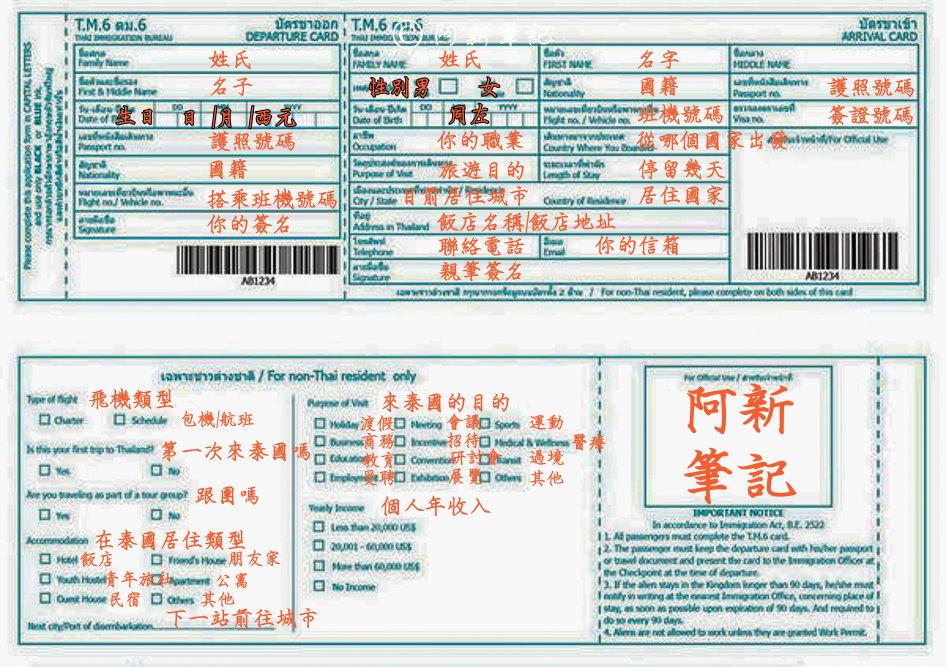 最新推播訊息:泰國入境簽證 |人在海關前
